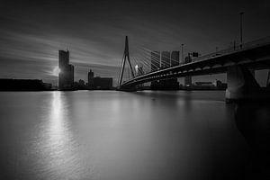 Rotterdam,  The sun behind the city van