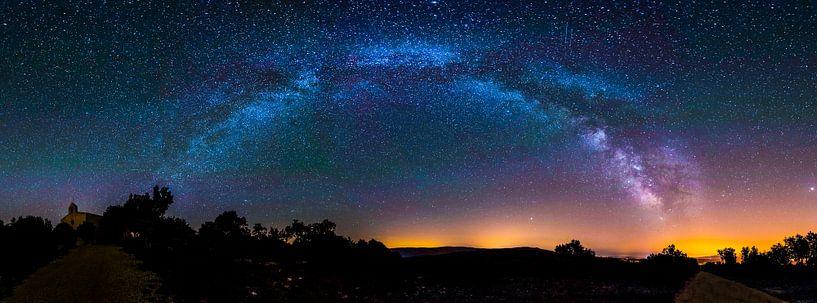 Panorama foto van de Melkweg van Cynthia Hasenbos
