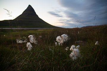 Kirkjufell berg in IJsland van Summer van Beek