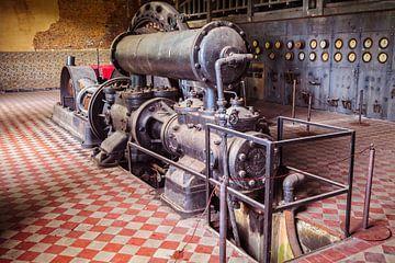 Luchtcompressor mijnmuseum van Rob Boon