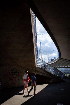 Erasmusbrug doorkijkje van Remco-Daniël Gielen Photography
