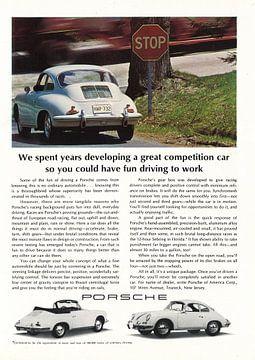 Vintage advertentie 1965 Porsche 356 convertible coupe van Jaap Ros