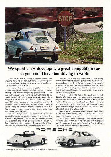 Werbung 1965 Porsche convertible coupe