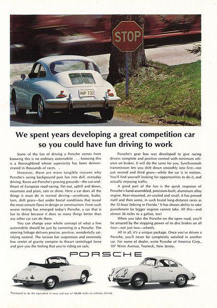 Werbung 1965 Porsche convertible coupe von Jaap Ros