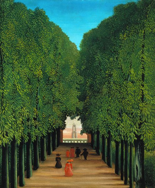 Henri Rousseau. The Avenue in the Park at Saint Cloud van 1000 Schilderijen