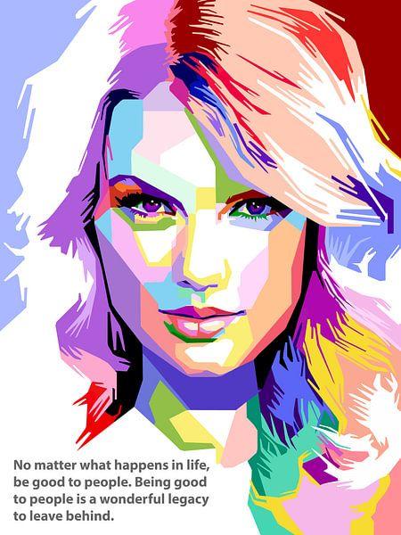 Pop Art Taylor Swift von Doesburg Design