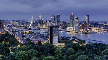 Rotterdam vanaf de Euromast van