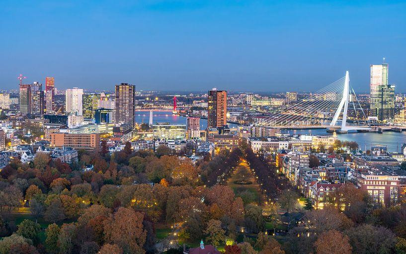Stadspanorama Rotterdam van Jeroen Kleiberg