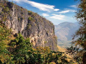Ein Felsen im Dschungel von Mandalay von Rik Pijnenburg