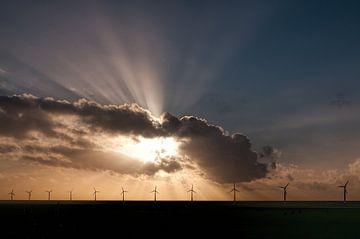 Windpark in mooi licht van Geke Willems
