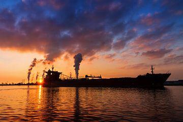 Tanker silhouette von