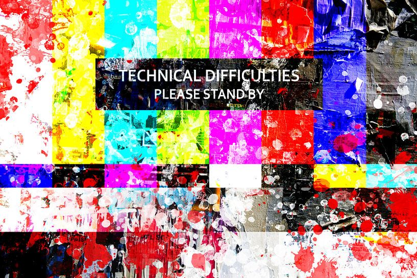 Test kaart – Technical Difficulties van Sharon Harthoorn