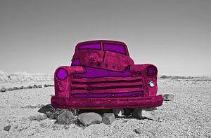 Oldtimer in the  Desert  van
