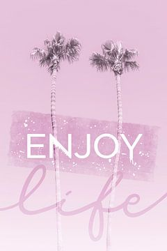 Palmenidylle in pink | enjoy life von Melanie Viola