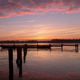 Pink Sunrise van Sandra de Heij