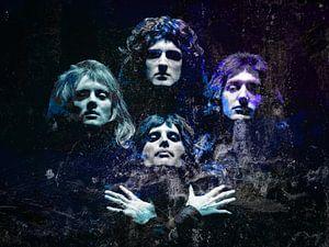 Queen Bohemian Rhapsody Abstract in Türkisblau-Violett
