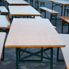 Tafels staan klaar voor duizenden bezoekers van Jetty Boterhoek