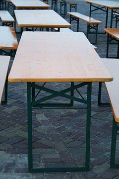 Tafels staan klaar voor duizenden bezoekers von
