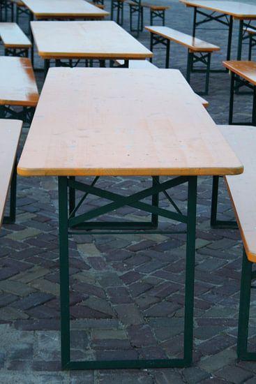Tafels staan klaar voor duizenden bezoekers