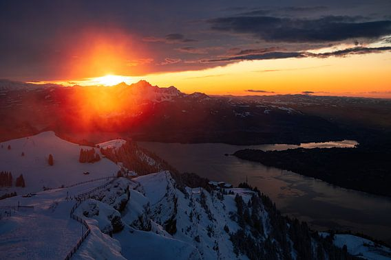 Sonnenuntergang auf der Rigi Kulm - Schwyz - Schweiz