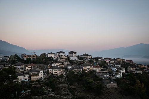 Gjirokaster, bergdorpje in Albanië