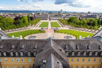 Duitse stad gezien vanaf Karlsruhe Palace van Evelien Oerlemans