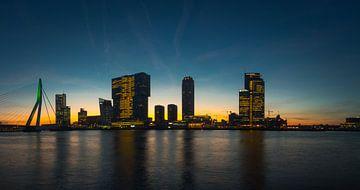 Skyline Rotterdam in the morning von Eddie Visser
