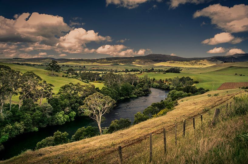 Voor de storm, Tasmanië van Sven Wildschut