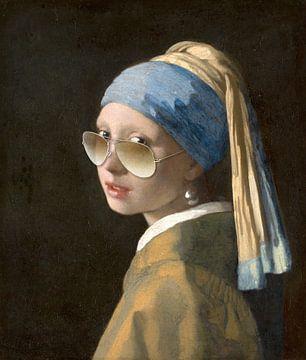 Mädchen mit dem Perlenohrring und Sonnenbrille