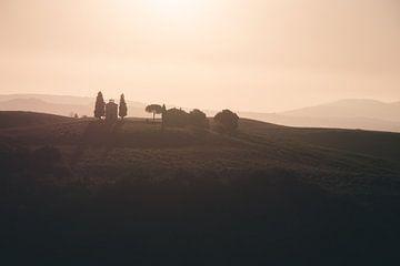 Sonnenaufgang in der Toskana von Kimberley Jekel