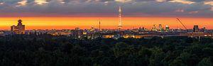 Berlin Panroama im Sonnenaufgang von Frank Herrmann