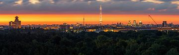 Panorama de Berlin au lever du soleil sur Frank Herrmann