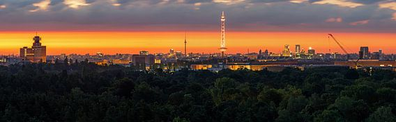 Berlijn Panroama bij zonsopgang