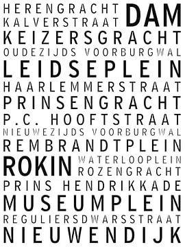 Amsterdam, rues et places célèbres sur Maarten Knops