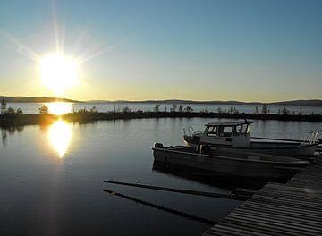 Finse zonsondergang van Jutta Klassen