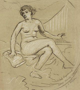 Aktporträt Think veränderte die Anarchie der Kongressbibliothek, Elihu Vedder (1895) von Atelier Liesjes