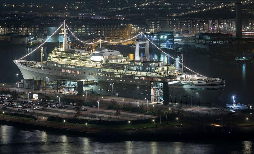 Het ss Rotterdam in Rotterdam Katendrecht van MS Fotografie   Marc van der Stelt