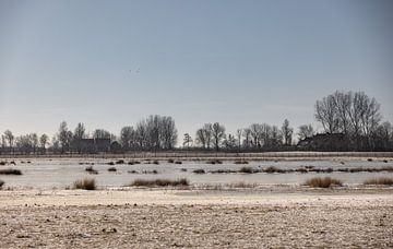 Bevroren meer in Brigdamme van Percy's fotografie