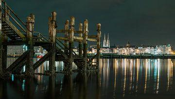 Oostende by night van Rik Verslype