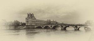 Pont Royal over de Seine in Parijs van Toon van den Einde