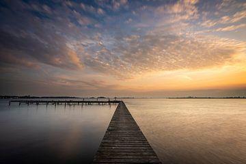Échafaudage au coucher du soleil sur Ron ter Burg