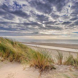 Het strand en de duinen op Ameland van Niels Barto