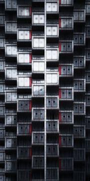One Park Drive facade Canary Wharf Londen van vedar cvetanovic