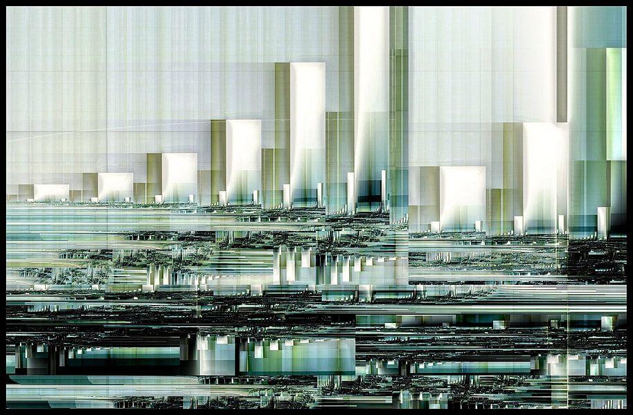 fractal (Magic Town) van Frans Beer