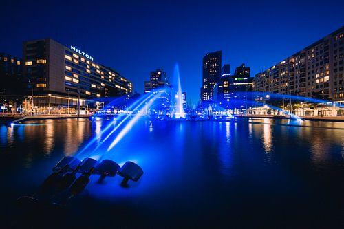 Hofpleinfontein, Rotterdam - Nachtfoto van Martijn Smeets