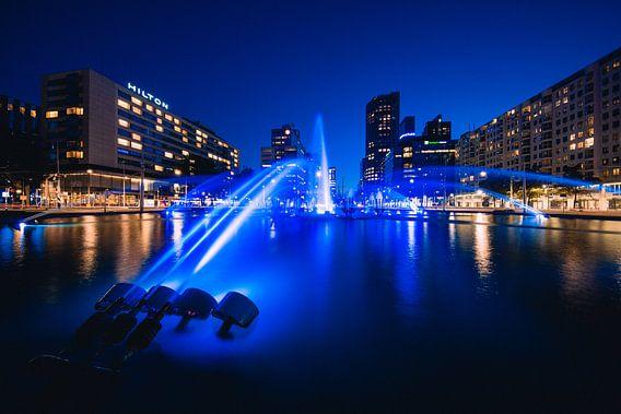 Hofpleinfontein, Rotterdam - Nachtfoto