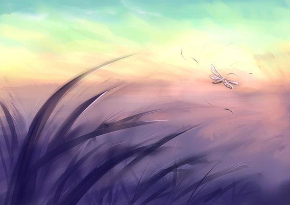 Licht Libelle van  Petra van Berkum