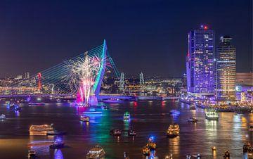 Het vuurwerk tijdens de Wereldhavendagen 2018 in Rotterdam van MS Fotografie | Marc van der Stelt