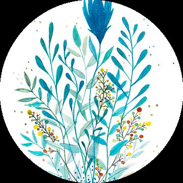 The elegant springflower van WatercolorWall