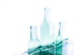 Stilleven met 3 flessen